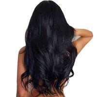 Brasilianische / indische körperwelle menschliches Haar Silk Basis Lace Front Perücken Einstellbare Pre Zupfte Glueless Perücken Schwarze Frauen Großhandel