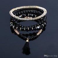 New Bohemian Ethnic Multi- layer Beads Tassel Elastic Men Cha...