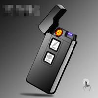USB 충전 코일 아크 라이터 2 기능 방풍 전자 담배 전기 흡연 시가 라이터 5 색 공구 액세서리
