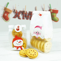 500 teile / los Matte Transparent snowmen keks essen paket BOPP plastiktüte snack verpackung backen gebäckbeutel