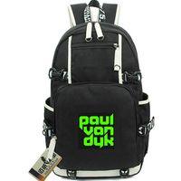 بول فان دايك حقيبة أعلى مشجعي دي جي اليوم حزمة نشوة نمط حقيبة مدرسية الترفيه packsack الجودة حقيبة الرياضة المدرسية في daypack