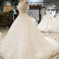 Special Sexy Sleeves Wedding Gown O Neck Tulle Open Keyhole ...
