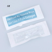 100 unidades / pacote mosaico agulhas de tatuagem dicas para maquiagem permanente agulhas-branco, preto e transparente tampas de plástico frete grátis