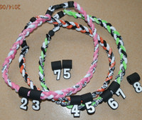 Acessórios de futebol 100pcs colares saudáveis Esporte cordas 3 colar de titânio corda - Escolha entre várias cores e tamanhos