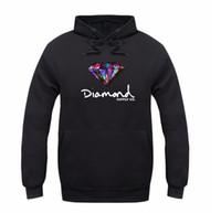 Heren Hoodies Sweatshirts Mode Diamant Levering Co Print Mannen Dikke Hoed Dames Casual Pullover Paar Herfst Winter Sweatshirt Lange Mouw