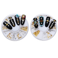 Nuovo arrivo 3D acrilico Nail Art Suggerimenti Nail Art Decorazione fai da te Box Golden Sliver Sharp Square / Diamond For Girls