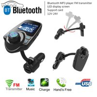Display LCD Sem Fio Bluetooth V3.0 EDR Kit Mãos Livres Carro Carro MP3 Player FM Transmissor Modulador USB Car-carregador