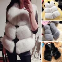 Ladies Luxury Jacket Women's Winter Basic Coat Artificial  Fur Vest Brand Femme Fur Vests High Quality Warm Coat