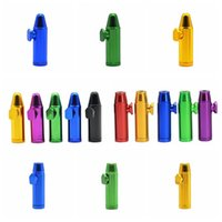 New Colorful Metal Snuff Bullet Shape Smoking Pipa Naso Lega di alluminio Design innovativo Portatile Multi Style di alta qualità
