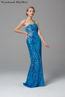 Shiny One Shoulder Prom Dress Sexy Sequin See Through Evenin...