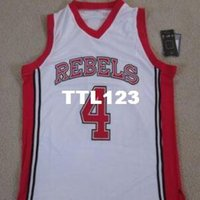 cd9277a19620 Männer   4 LARRY JOHNSON Vintage Jersey rot weiß UNLV Rebels RUNNIN STAT  College-Trikot