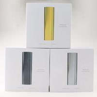 E Cigaratte Kits Premium Vaporisateur Vaporisateur d'herbes sèches En acier inoxydable noir et or noir pouvant connecter une application d'origine