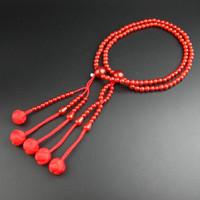 замечательный Лотос SGI бусины японский молитва бусины сока Гаккай буддийский мала 108 шт. красный агат м размер бесплатная доставка