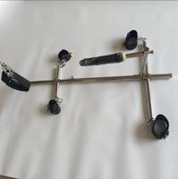 Unisex in acciaio inox Bondage schiavi cane schiavi dispositivi BDSM set manette manette cavigliere polsini collo collo dildo sex mobili giocattolo