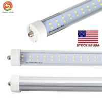 모조리! 새로운 576PCS SMD 이중 행 LED 72W 관 빛 FA8 8 피트 72W 형광 램프 T8 튜브 AC85-305V 감기 화이트 색상 투명 커버