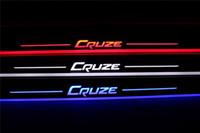 방수 아크릴 이동 LED 환영 페달 자동차 스커프 플레이트 페달 도어 sill 통로 빛 시보레 Cruze 2016 2017