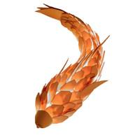 크리 에이 티브 개성, 물고기 모양의 장식 벽 램프, 게시물 현대 예술 벽 램프 계단 통로 복도 거실 머리맡 램프 LLFA