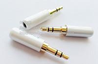 3.5mm 3 극 스테레오 남성용 플러그 수리 오디오 이어폰 TRS 커넥터, 납땜, 흰색 / 무료 배송 / 10PCS