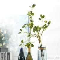 プラスチックの籐の緑の花のつる人工的な枝ジャスミンの葉のDIYの花枝編み細工品配置のための物事の装飾のための供給5 3JM II