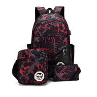 High quality 3 ps combination backpack designer backpack han...