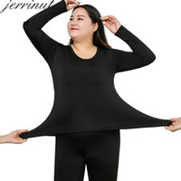Jerrinut Термобелье Женщин Плюс Размер 6XL Зимняя Одежда Костюм Лонг Джонс Женщин Для Зимы Термобелье Женское