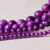 8mm di alta qualità pietra naturale viola perline di Sugilite perle tonde allentate 4mm 6mm 8mm 10mm 12mm collana fai da te braccialetto creazione di gioielli