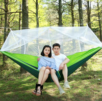 12 Colors Portable Hammock With Mosquito Net Single- person H...