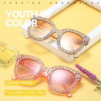 7 Colors Retro Star Accessory Sunglasses Women Crystal Squar...