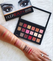 Newest Huda 18 Colors Eyeshadow Palette Rose Gold Textured P...