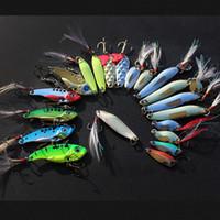 Ambientazione esterna 20Pcs Multi Fishing Lure colori misti Lure ISCAS metallo artificiale Paillettes Bait con ganci richiamo Kit Attrezzatura di pesca Pesca Mepps