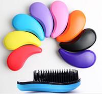 Pinceau démêlant, anti-stat, glisse le démêlant à travers les cheveux emmêlés, meilleur peigne pour les femmes, les filles, les hommes et les garçons, utilisation dans les cheveux mouillés et secs