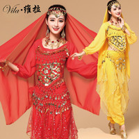 9pcs Belly Dance Costume Bellydance Triba Gypsy Indian Dress Belly Dancing Clothes Belly Dancing Bollywood Dance Costumes