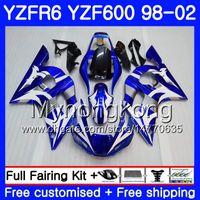 Kroppsvit Blå Glans för Yamaha YZF600 YZF R6 1998 1999 2000 2001 2002 230HM.26 YZF-R6 98 YZF 600 YZF-R600 YZFR6 98 99 00 01 02 Fairings