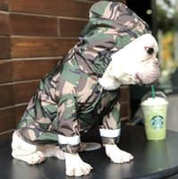 Camourflag Army Green Raincoats For Pets Tide Marchio Teddy Puppy Apparel Giacca antivento per cani Cat Pets Abbigliamento