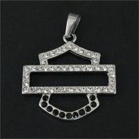 5pcs / lot Biker cristal de style unisexe Pendentif en acier inoxydable 316L bijoux populaire chaud de vente Motos Pendentif