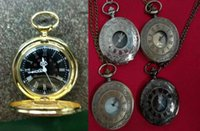 wholesale 50pcs lot mix 5Colors classic Roman Pocket watch v...