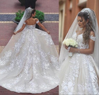 Said Mhamad Lace Wedding Dresses Appliques Off The Shoulder ...