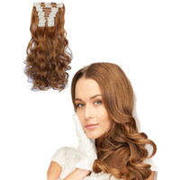 12pcs Set Wavy Women' s Hair Extension Fashion Long Curl...
