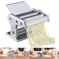 Edelstahl gewöhnliche 2 Klingen Teigwarenherstellung Maschine Manuelle Nudelhersteller Handbetriebene Spaghetti Pasta Cutter Nudel Aufhänger