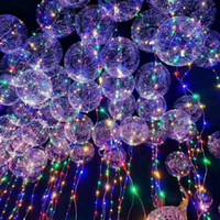 """BOBO Topu Dalga LED Dize 5 Metre 18 """"24"""" 36 """"Balon Işık Noel Cadılar Bayramı Düğün Parti Için Pil Ile Ev Dekorasyon"""
