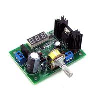 Freeshipping DC Buck Step Down Conversor Módulo LM317 Regulador de tensão LED Voltímetro 12V 24V DC: 0-30V Saída: DC 1.25-30V