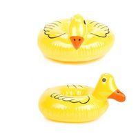 Duck Cup inflável Titular flutuante inflável Drink Titular pequeno Pato amarelo Coaster inflável Supplies Piscina partido praia de banho