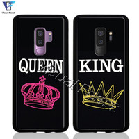 Fashion Simple King and Queen Couple Love Phone Case For S9 ...