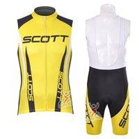 Scott Takımı Bisiklet Kolsuz Jersey Yelek Önlüğü Şort Setleri Erkekler Yaz Açık Hızlı Kuru Dağ Bisikleti Yüksek Kaliteli Yelek Seti 030310