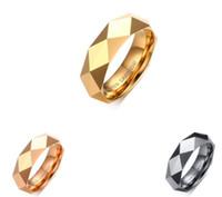 Anillo de boda 8mm Rose Gold / oro facetado para hombre Carburo de tungsteno Weeding Band anillo para hombre y mujer