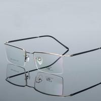 رجال الأعمال الترفيه مرنة نصف حافة النظارات إطار الحاجب إطارات قصر النظر النظارات الطبية الإطار البصرية
