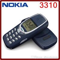 Восстановленное в Исходном NOKIA 3310 Сотовый Телефон GSM 900/1800 DualBand Игры 4 Разблокирована Дешевые Nokia телефон