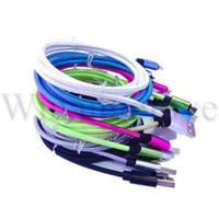 1 m 2 m Renkli Örgülü Naylon Alaşım mikro tip c usb kablosu kablosu hattı samsung s6 s7 s8 android telefon için 7 8