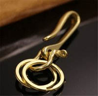 Solid Brass U Shaped KeyChain Key Ring Fob Holder Men' s...