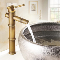 European antique bathroom sink basin faucet retro, Bamboo st...